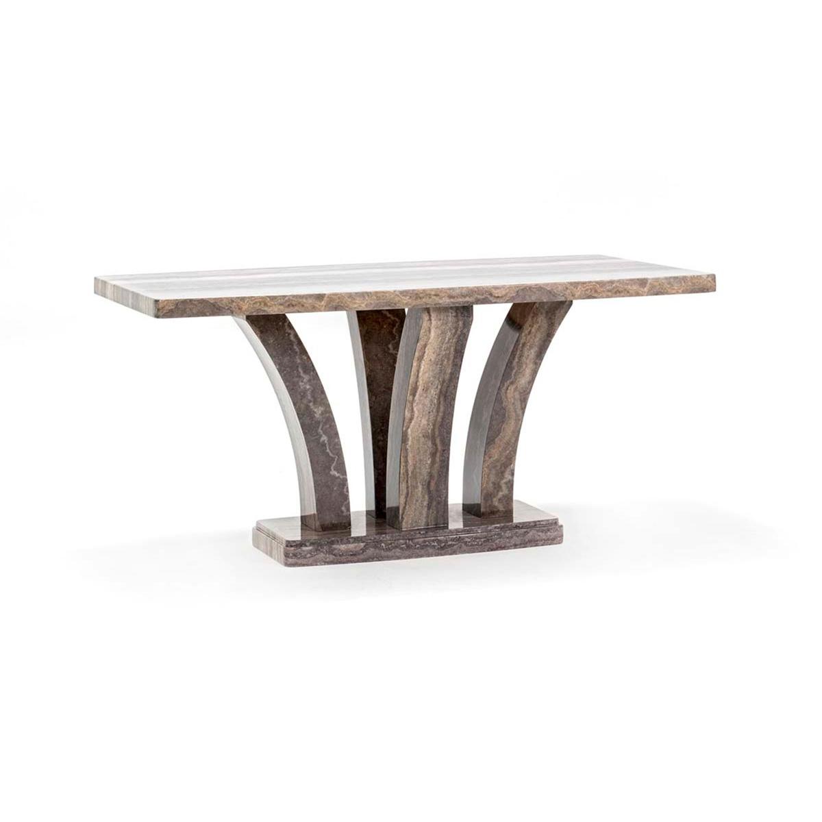 Amalfi Dining Table Angle Pearl Grey 2