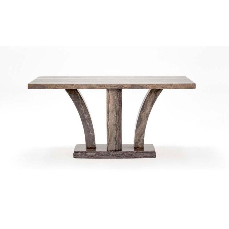 Amalfi Dining Table Angle Pearl Grey 3