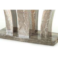Amalfi Dining Table Angle Pearl Grey 7