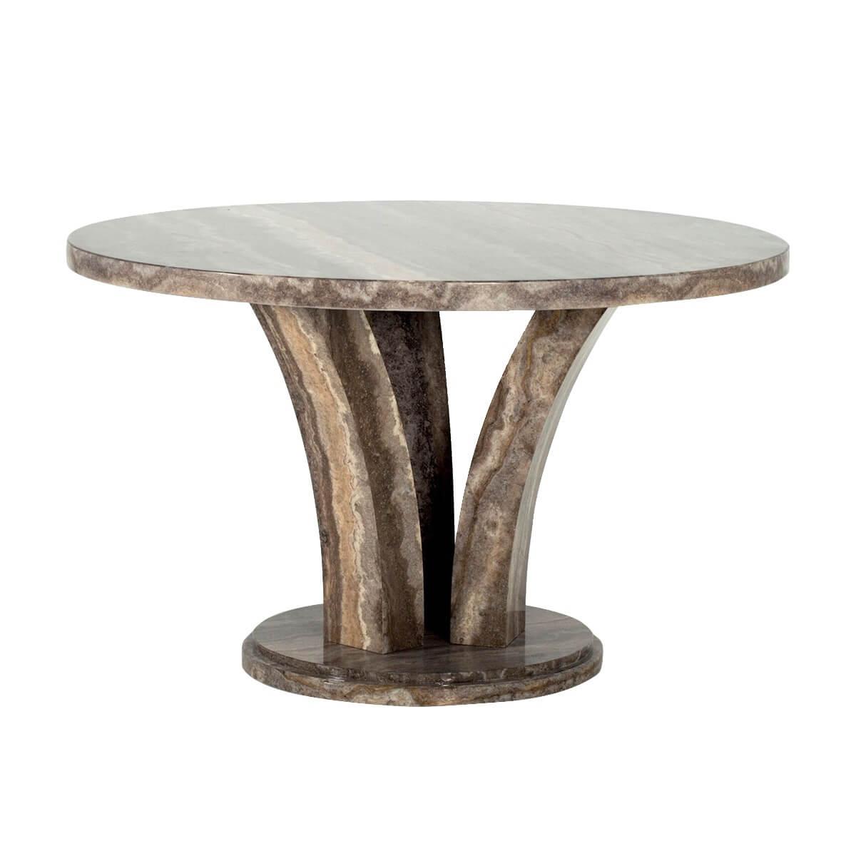 Amalfi Round Pearl Grey Dining Table