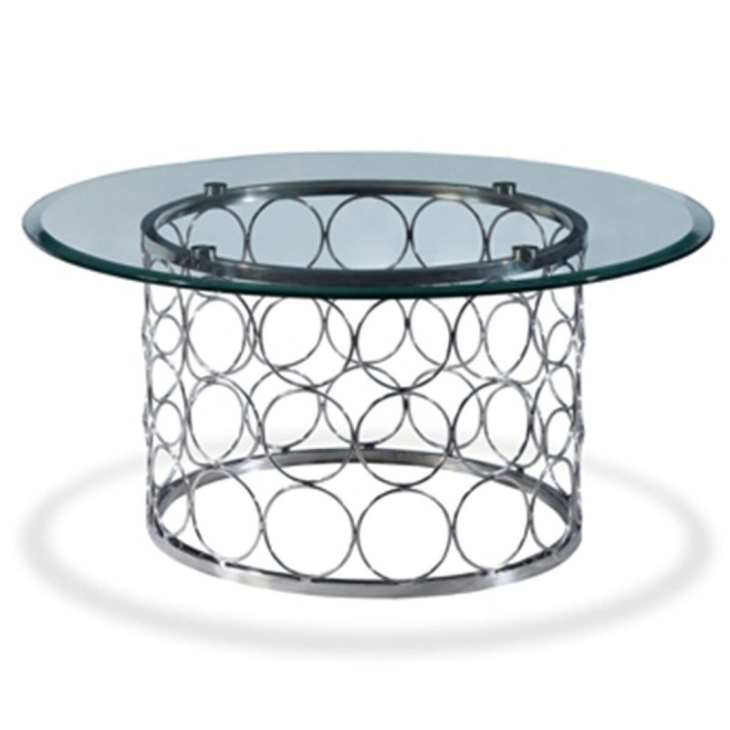 Bacall Circular Glass Coffee Table