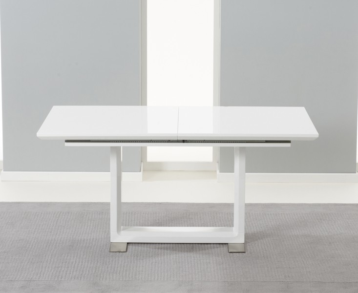 Beckley Extending White High Gloss Dining Table 2