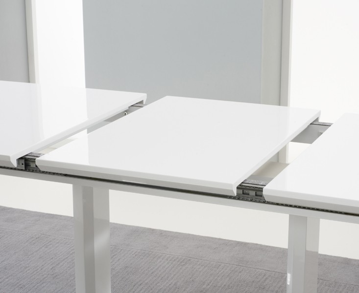 Beckley Extending White High Gloss Dining Table 3