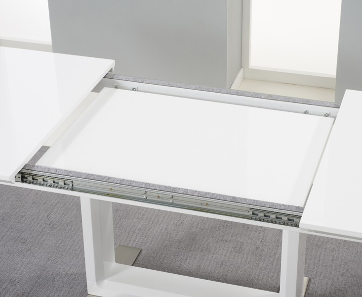 Beckley Extending White High Gloss Dining Table 4