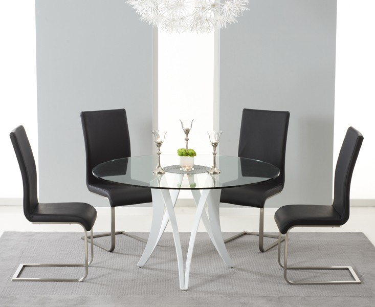 Berlin Dining Berlin Dining Table Glass & White Gloss 3