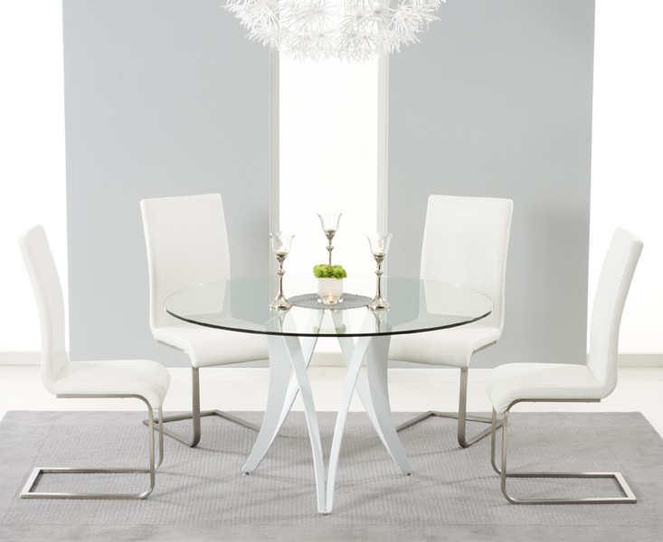 Berlin Dining Berlin Dining Table Glass & White Gloss 4