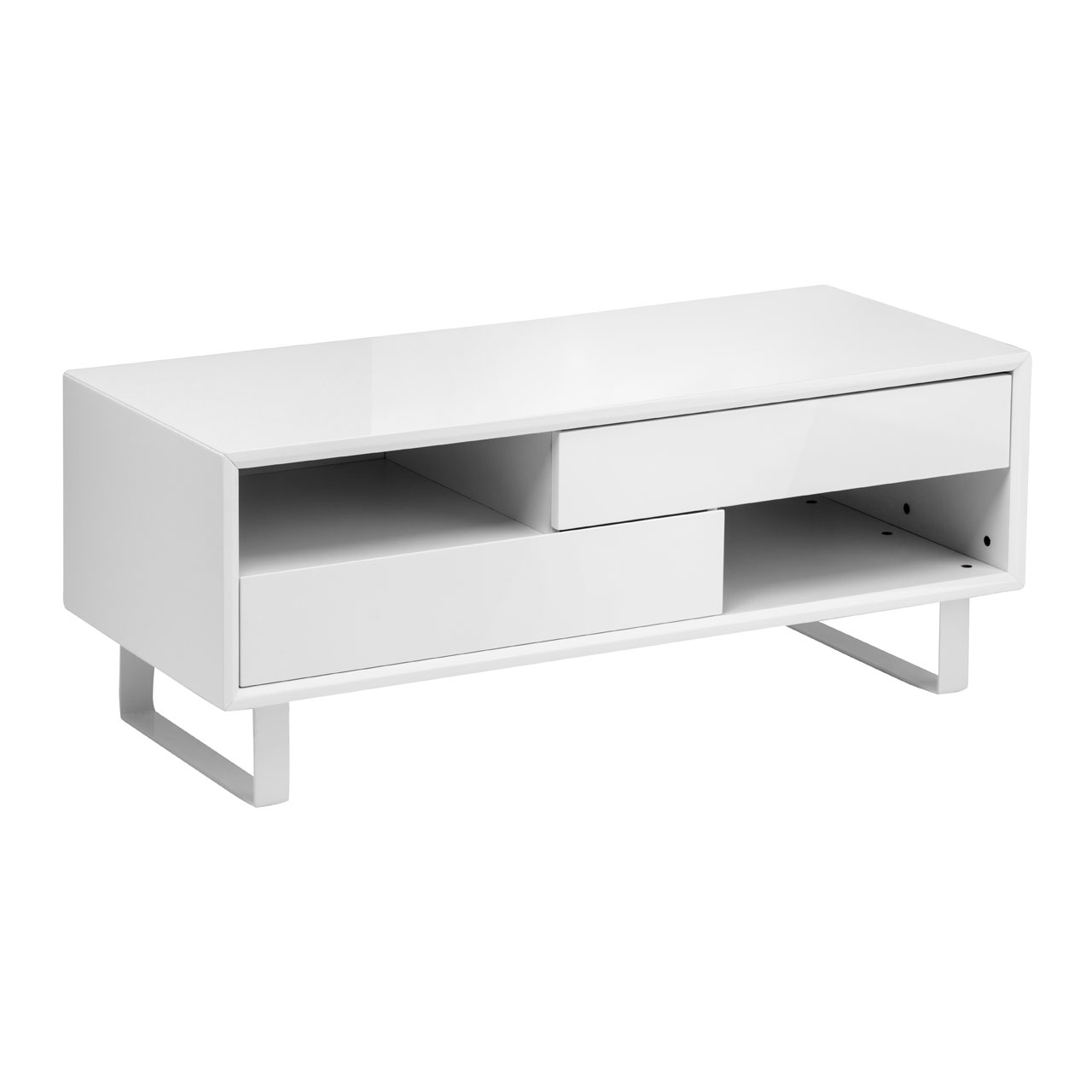 Block High White Gloss Coffee Table White Gloss From Fads