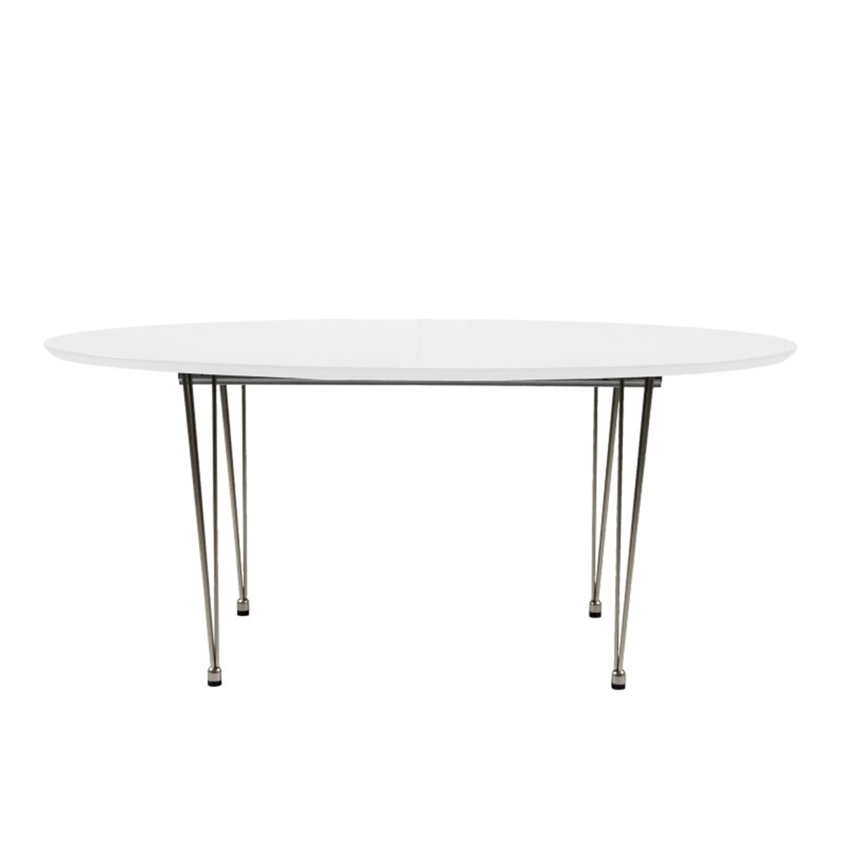 Bobby oval extending dining table white contemporary dining fads - White extending dining tables ...