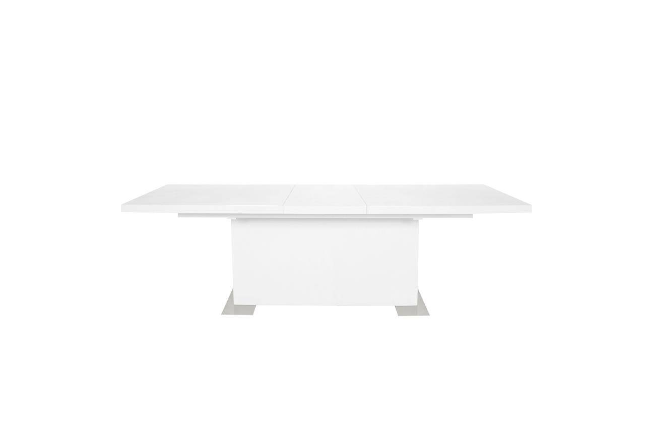 Brick White High Gloss Extending Dining Table 2
