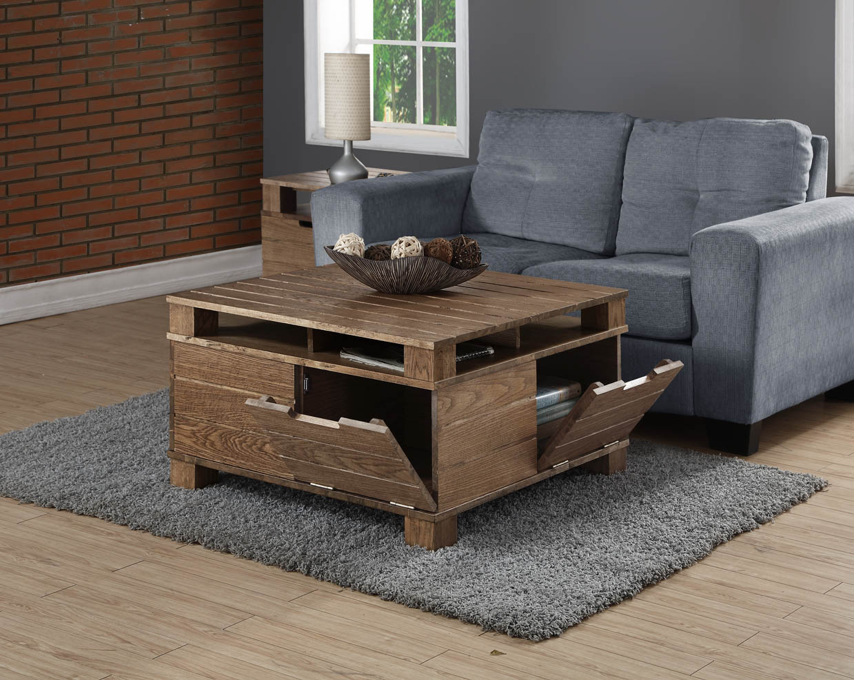 Jual Rustic Oak Coffee Table 1