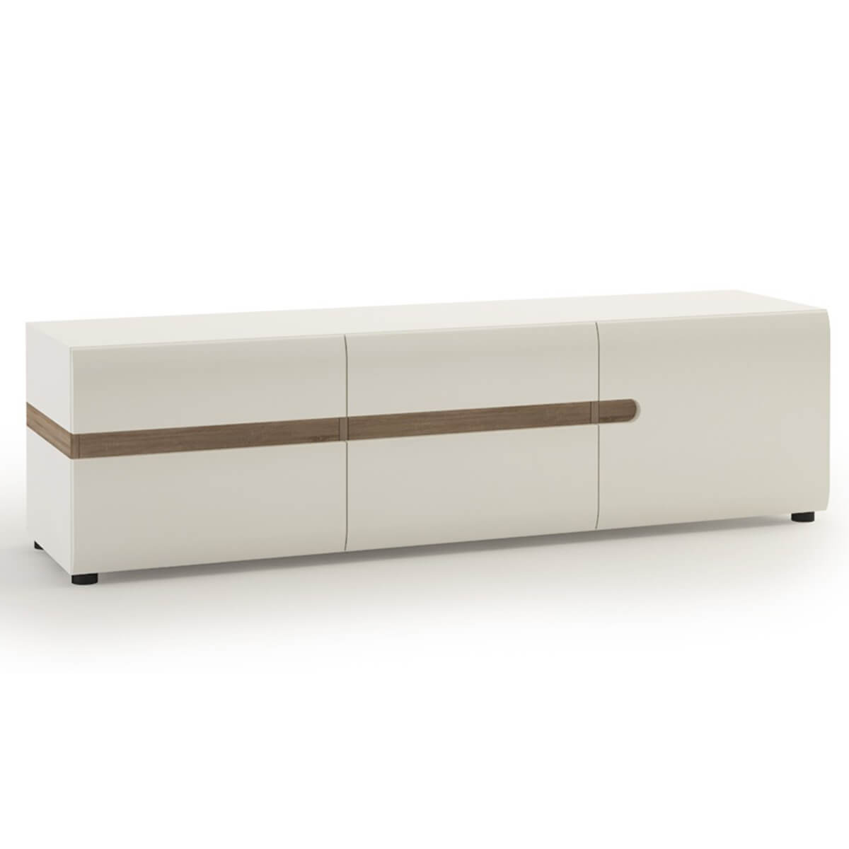 Mode Storage TV Unit 164cm White Gloss & Truffle Oak