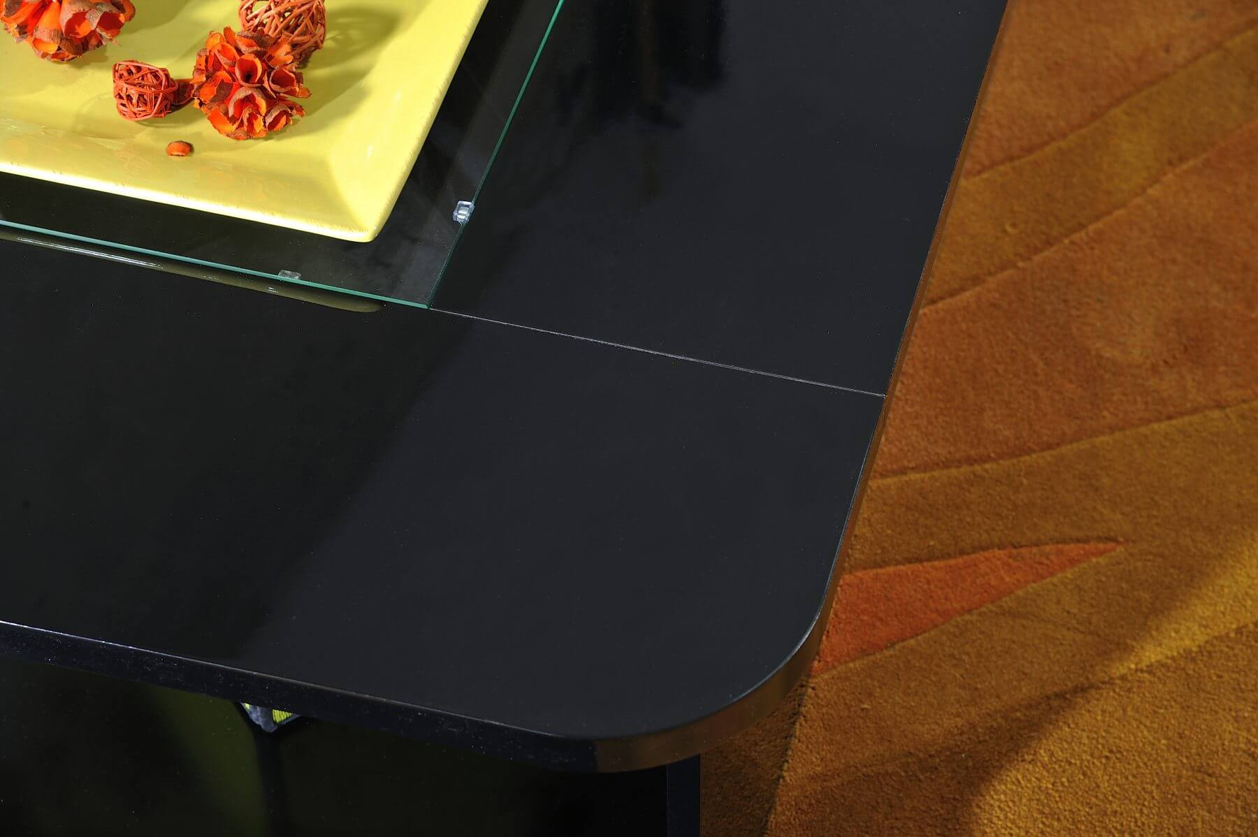 Floyd Black Coffee Table With Storage Amp Led Lights Fads
