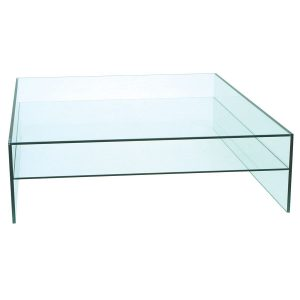 Demure Square Tempered Glass Coffee Table