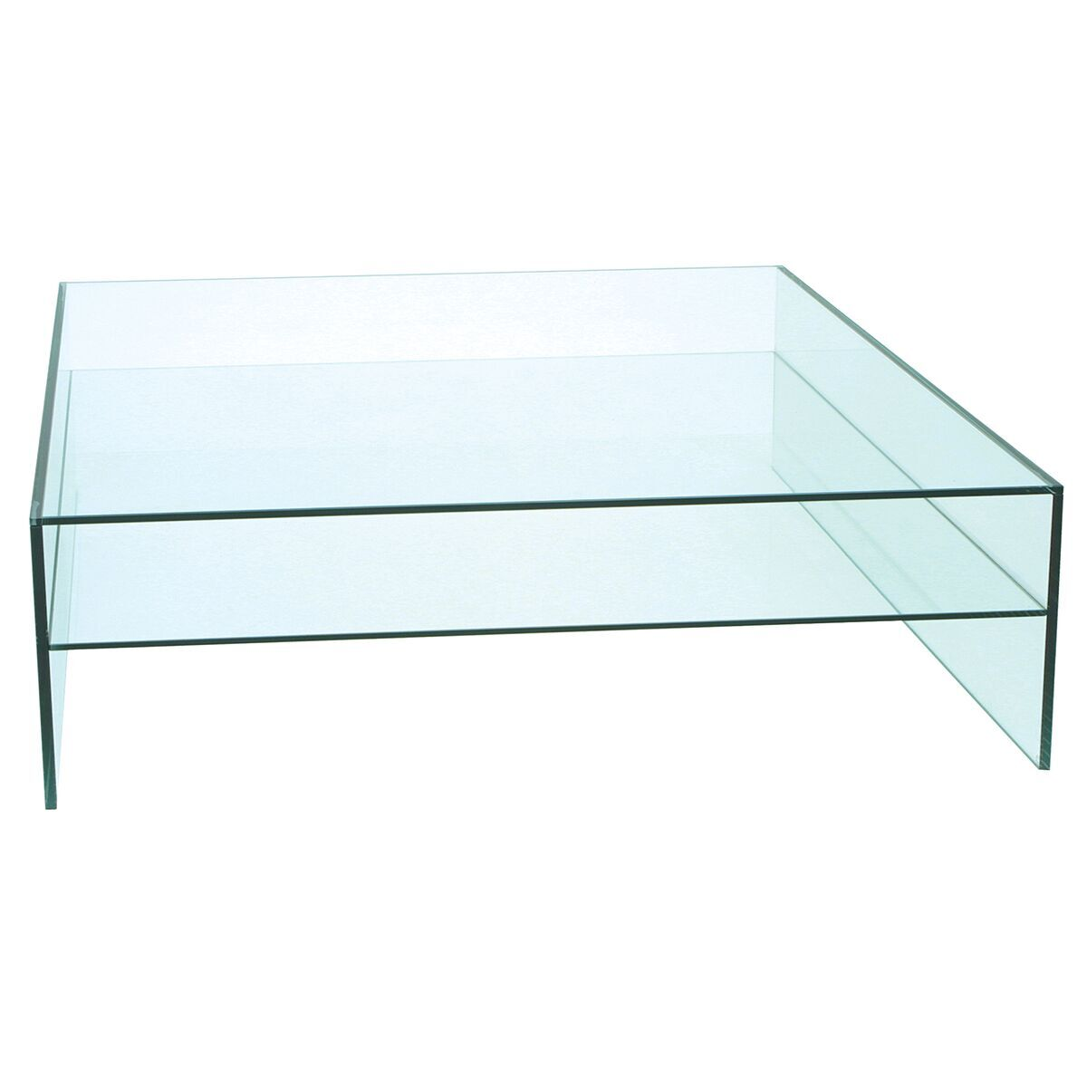 Picture of: Demure Square Tempered Glass Coffee Table Glass Furniture Fads