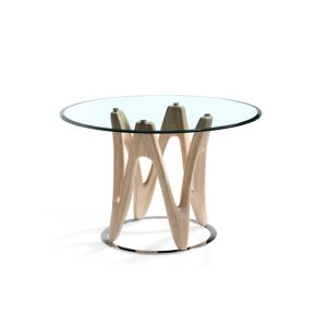 Dune Round Glass Dining Table
