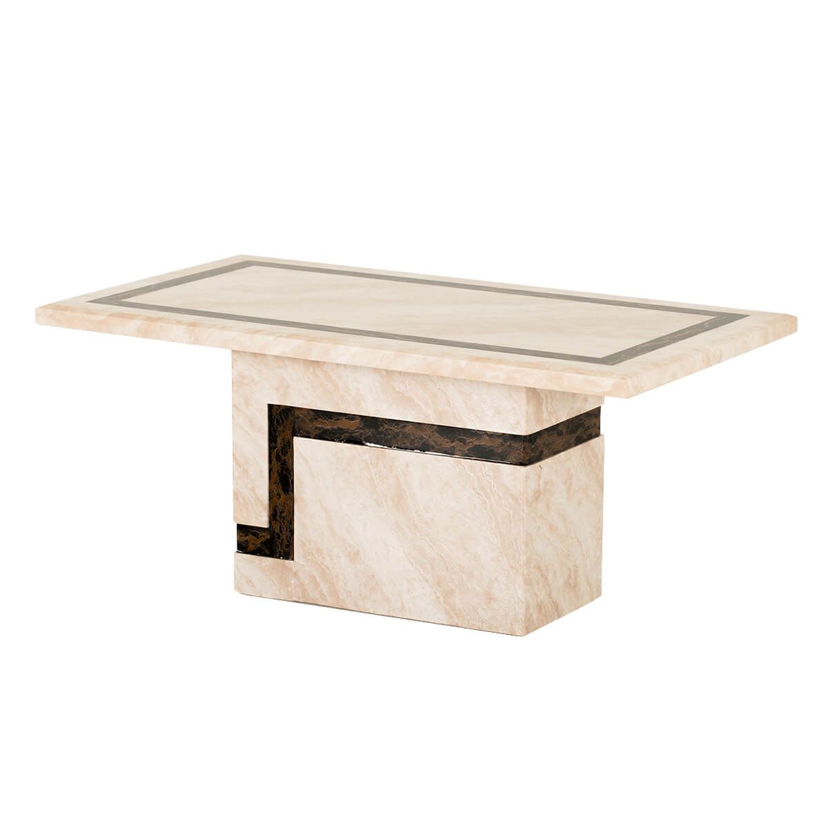 Felix Cream Brown Marble Coffee Table Coffee Tables From Fads