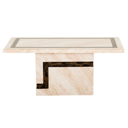 Felix Cream & Brown Marble Coffee Table