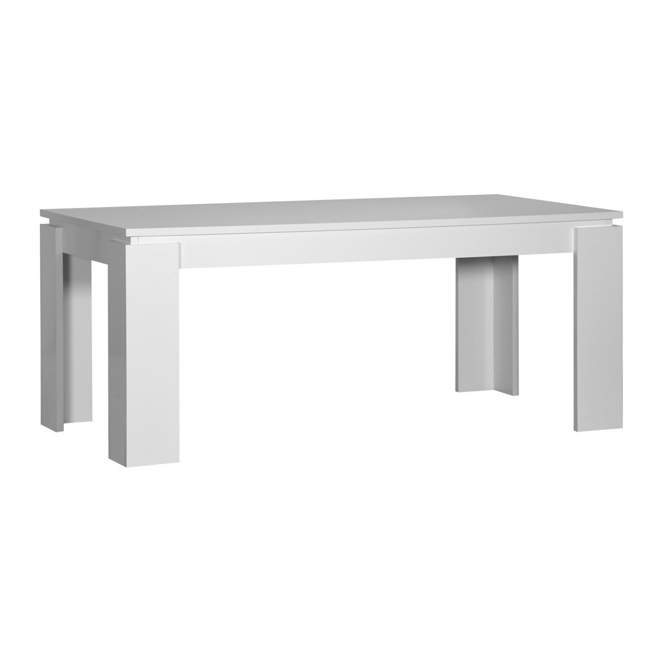 Toscana White High Gloss Coffee Table: Floyd White High Gloss Extending Dining Table