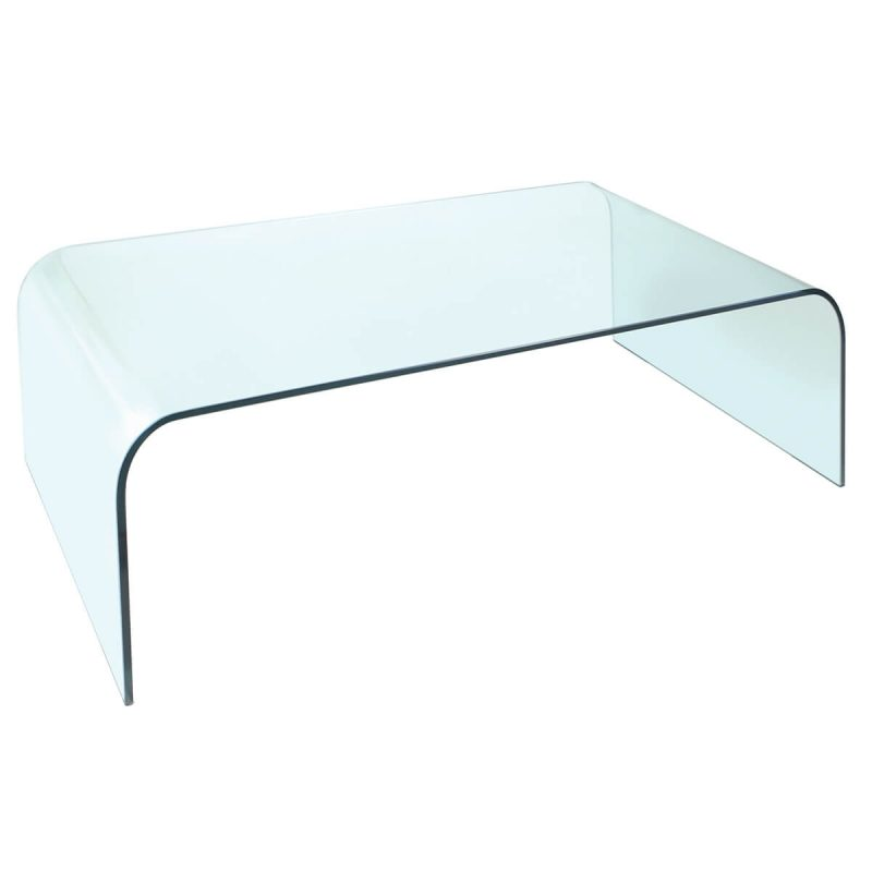 Dome Curved Glass Coffee Table