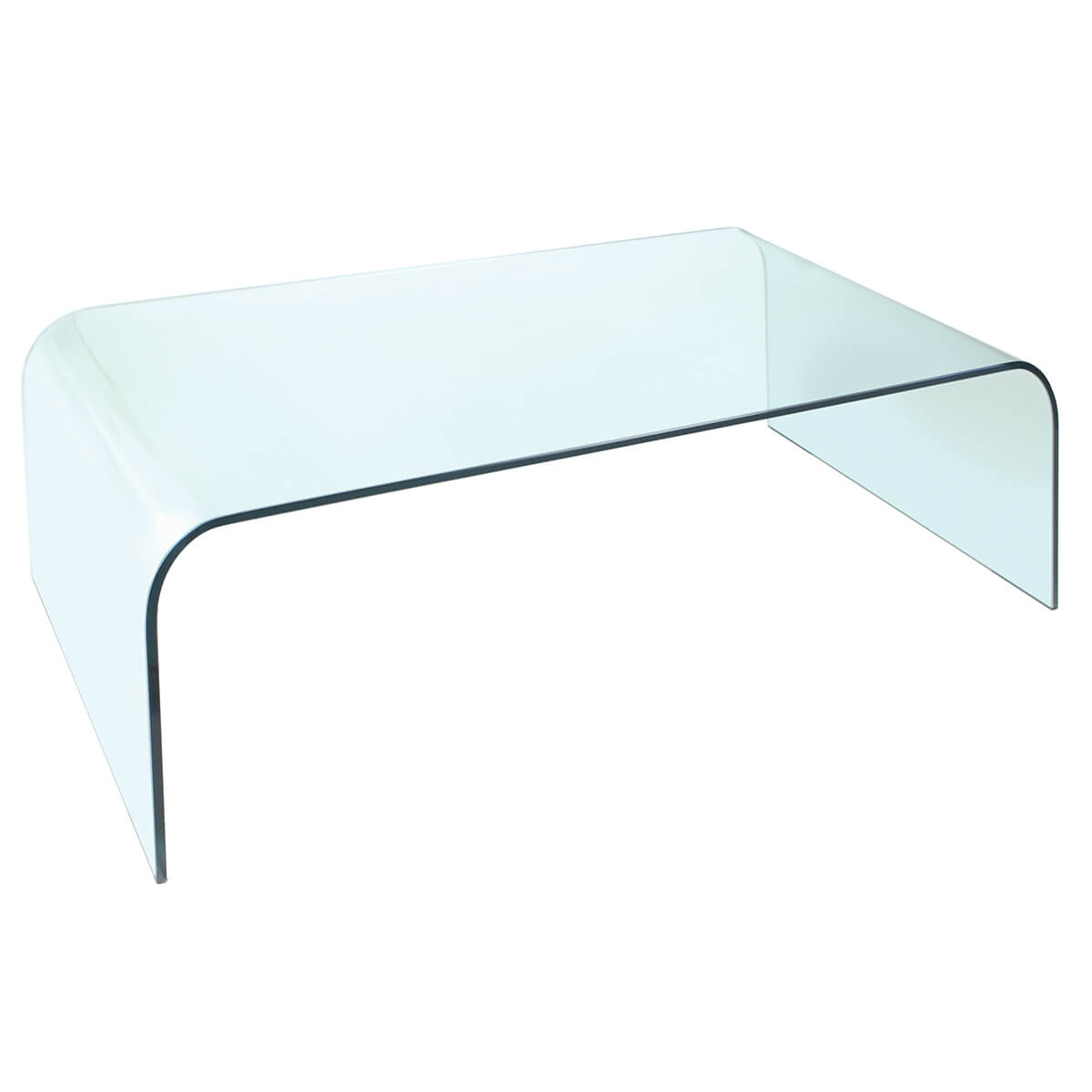 Dome Curved Glass Coffee Table Modern Glass Furniture Fads [ 1200 x 1200 Pixel ]