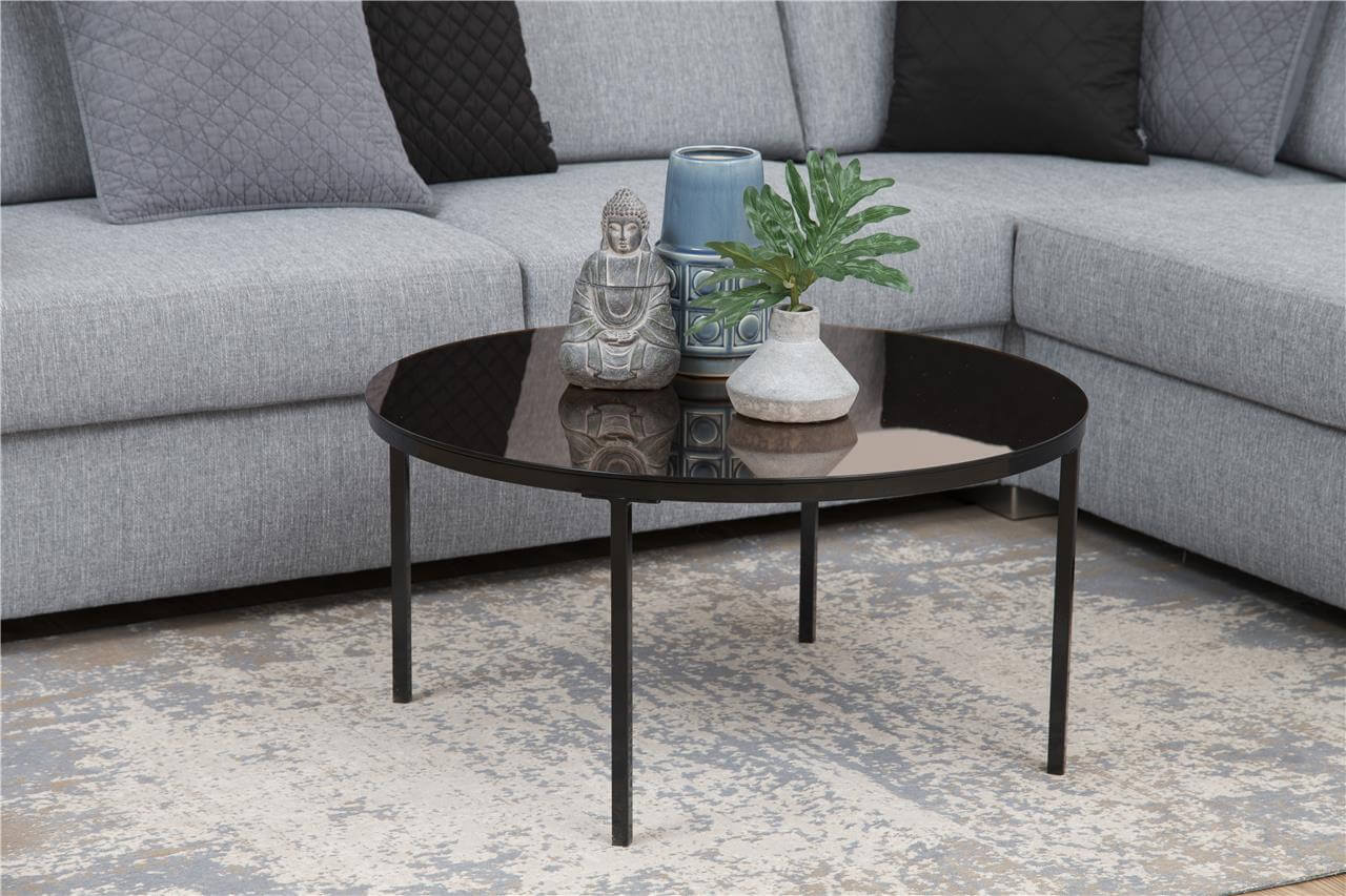 Gina Bronze Mirrored Coffee Table 1