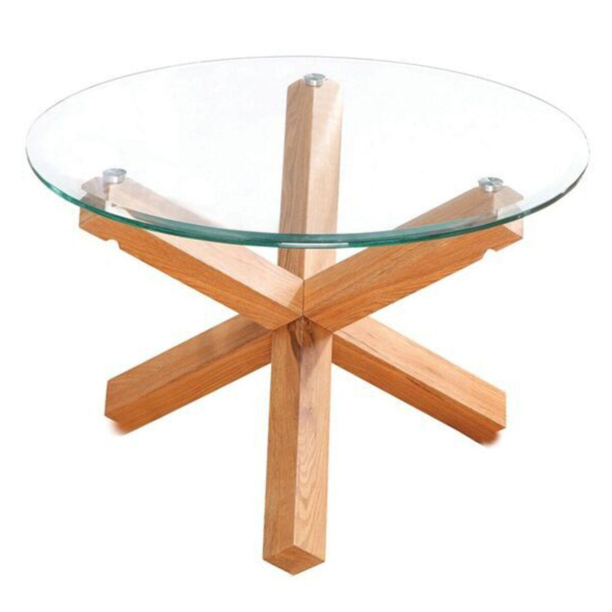 Grange Coffee Table Glass & Solid Oak