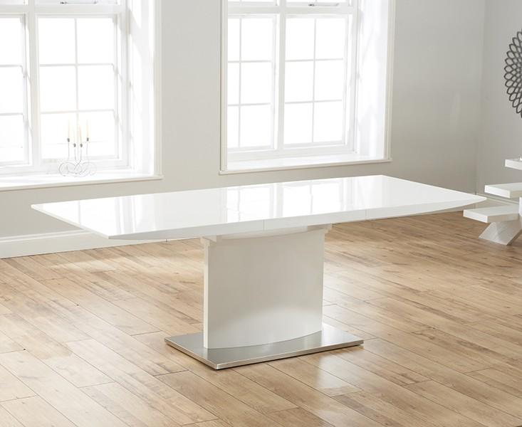 Hayden White Gloss Extending Dining Table 2