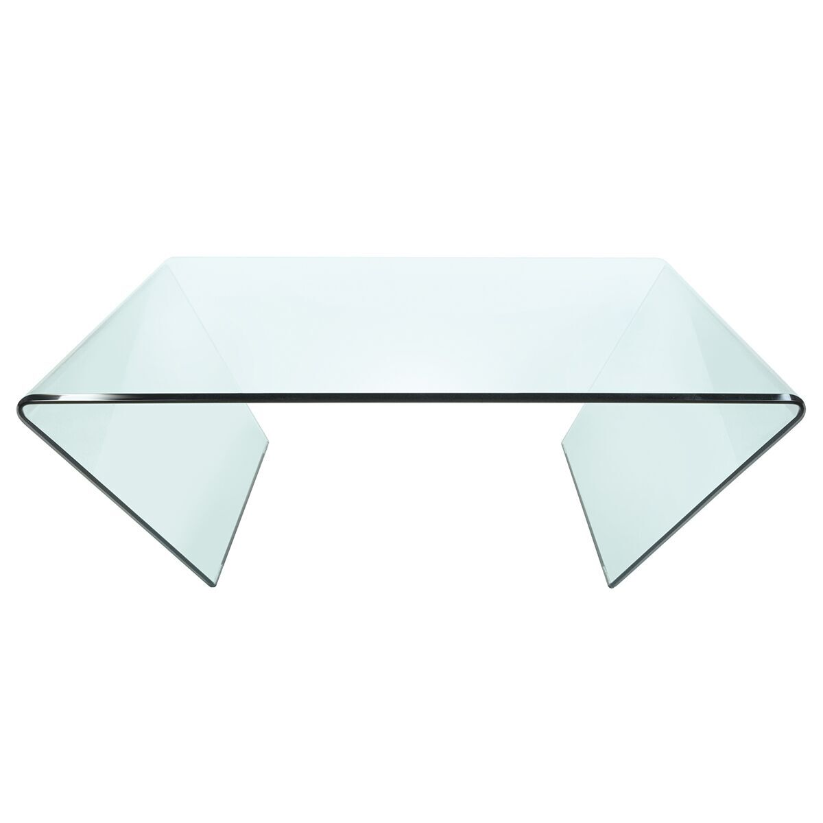 Horizon Clear Angled Glass Coffee Table Pure Glass From Fads [ 1200 x 1200 Pixel ]