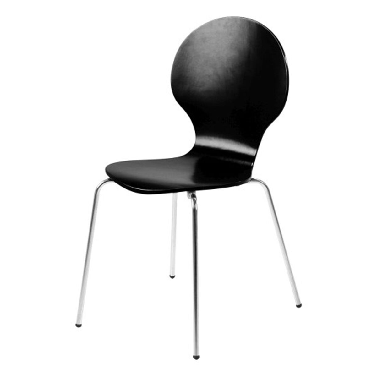 hugo birch molded multi coloured dining chair (single  various colours available) (colour: black)