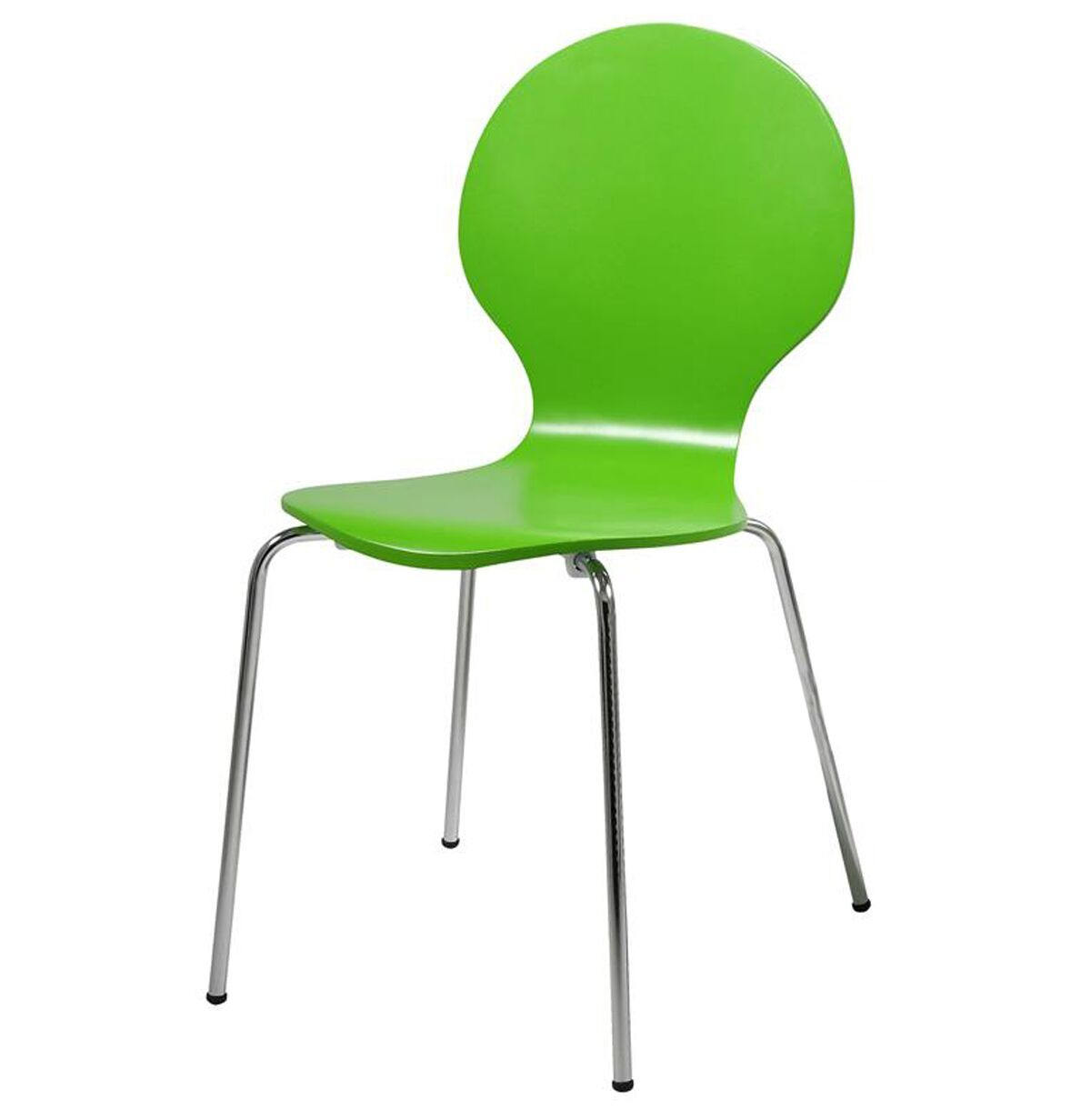 hugo birch molded multi coloured dining chair (single  various colours available) (colour: green)