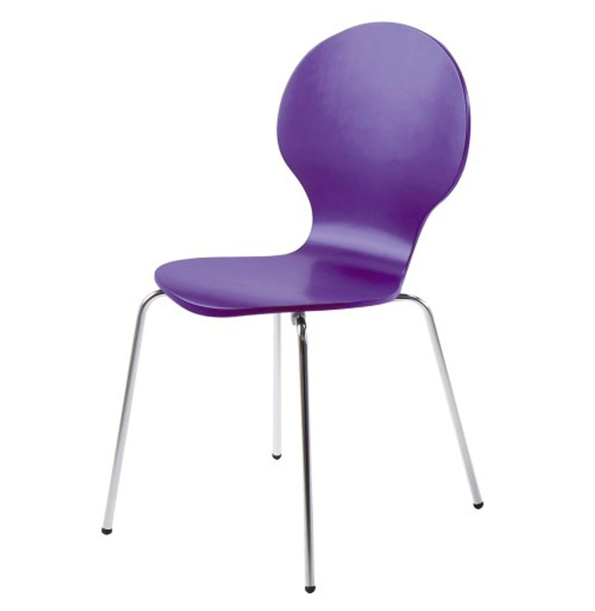 hugo birch molded multi coloured dining chair (single  various colours available) (colour: purple)