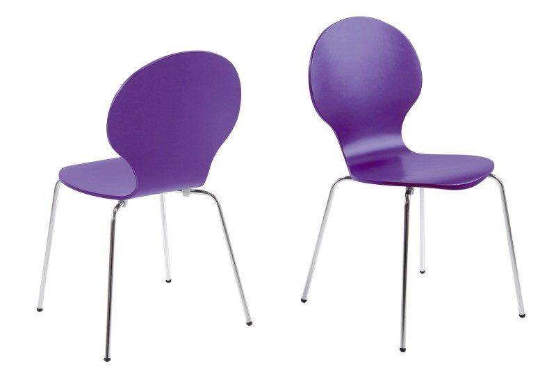 Hugo Purple Dining Chair 1