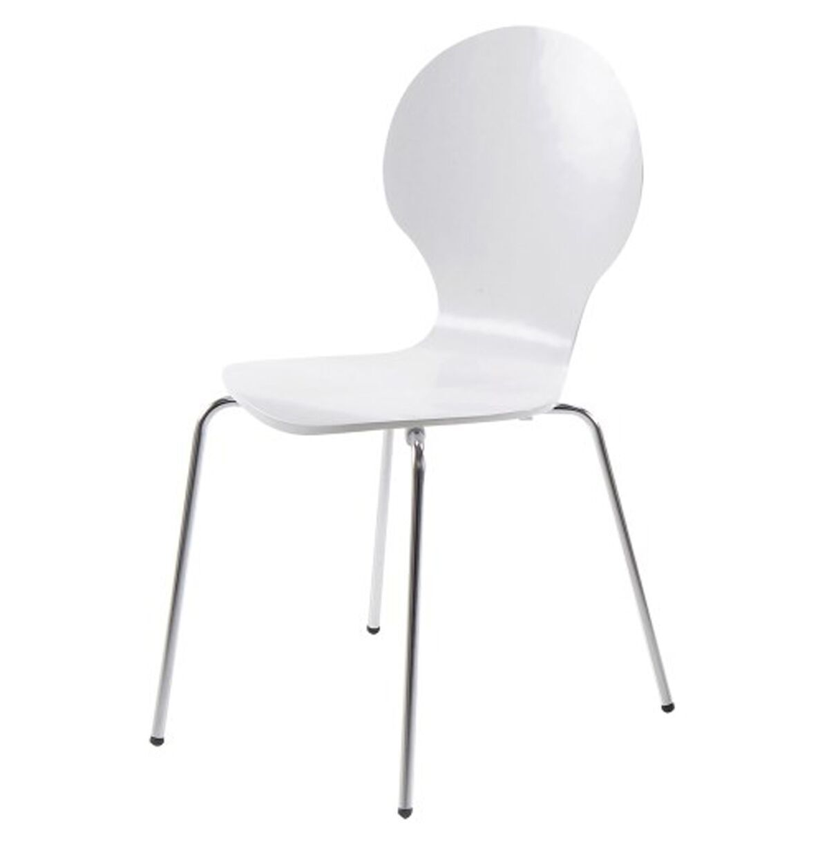 hugo birch molded multi coloured dining chair (single  various colours available) (colour: white)