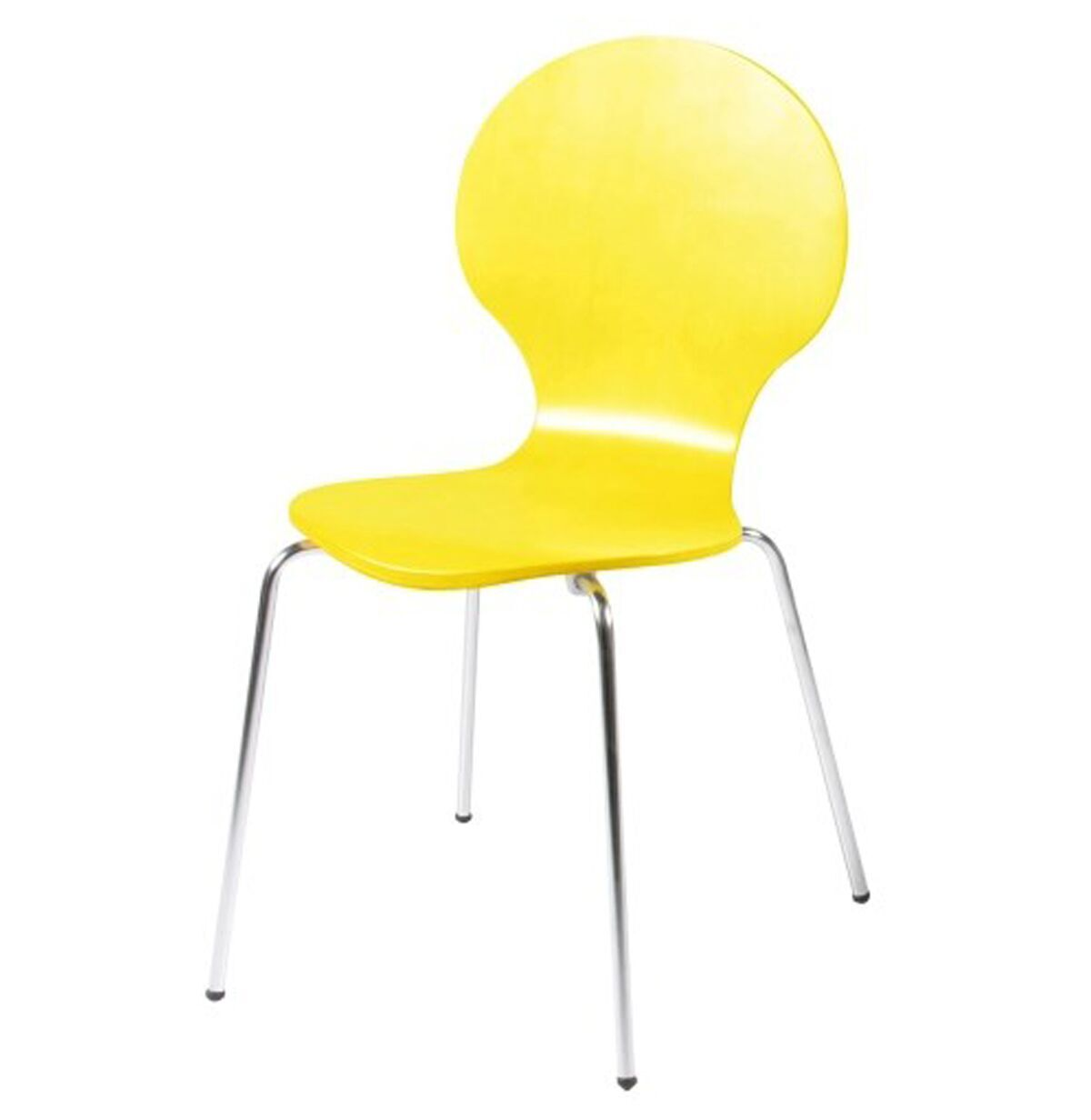 hugo birch molded multi coloured dining chair (single  various colours available) (colour: yellow)