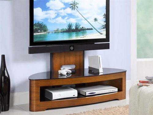 Jual Curve TV Stand Walnut 2