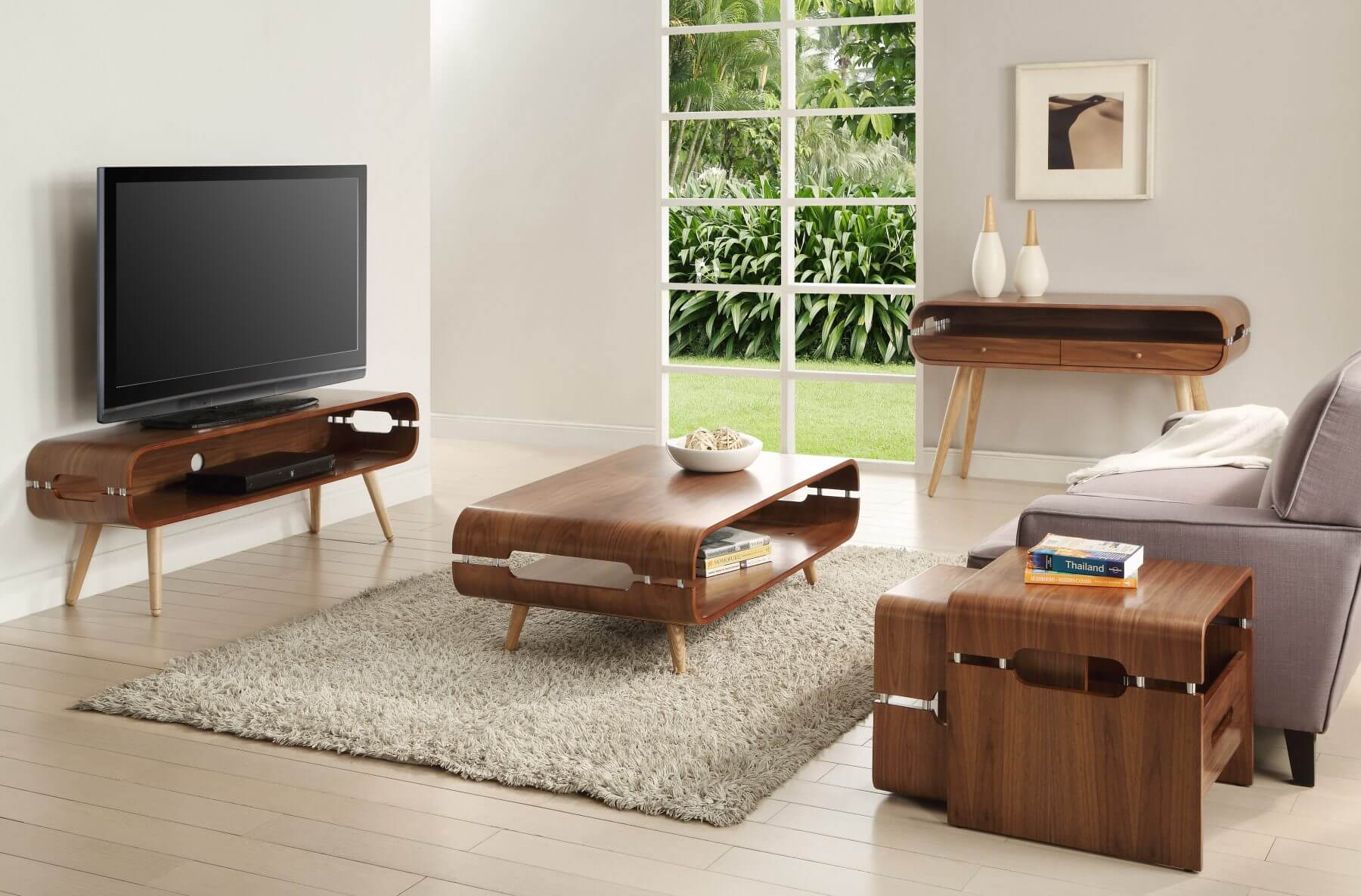 Jual Scandinavian Style Walnut Coffee Table