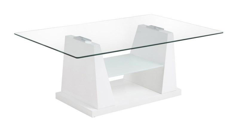Tuva White Gloss & Glass Coffee Table 1
