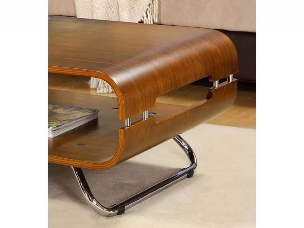 Jual Curve Walnut Coffee Table 1