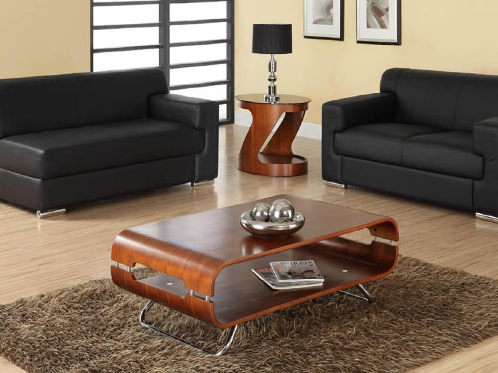 Jual Curve Walnut Coffee Table 2