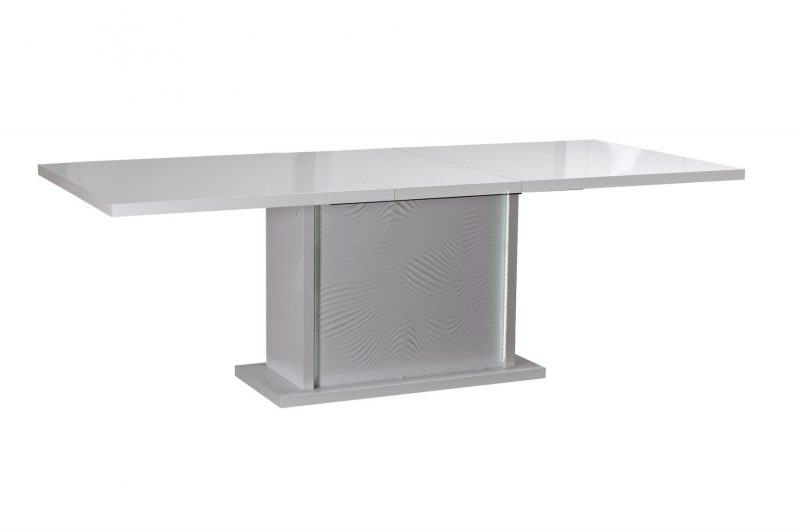 Karma Extending Dining Table White 3