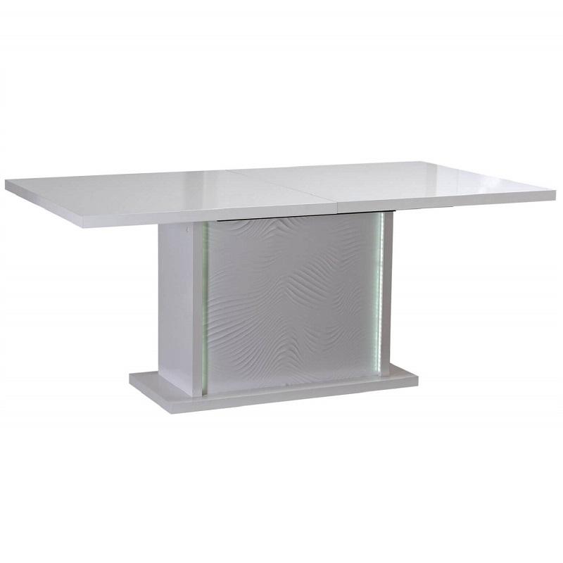 Karma White High Gloss Extending Dining Table 6 Seater