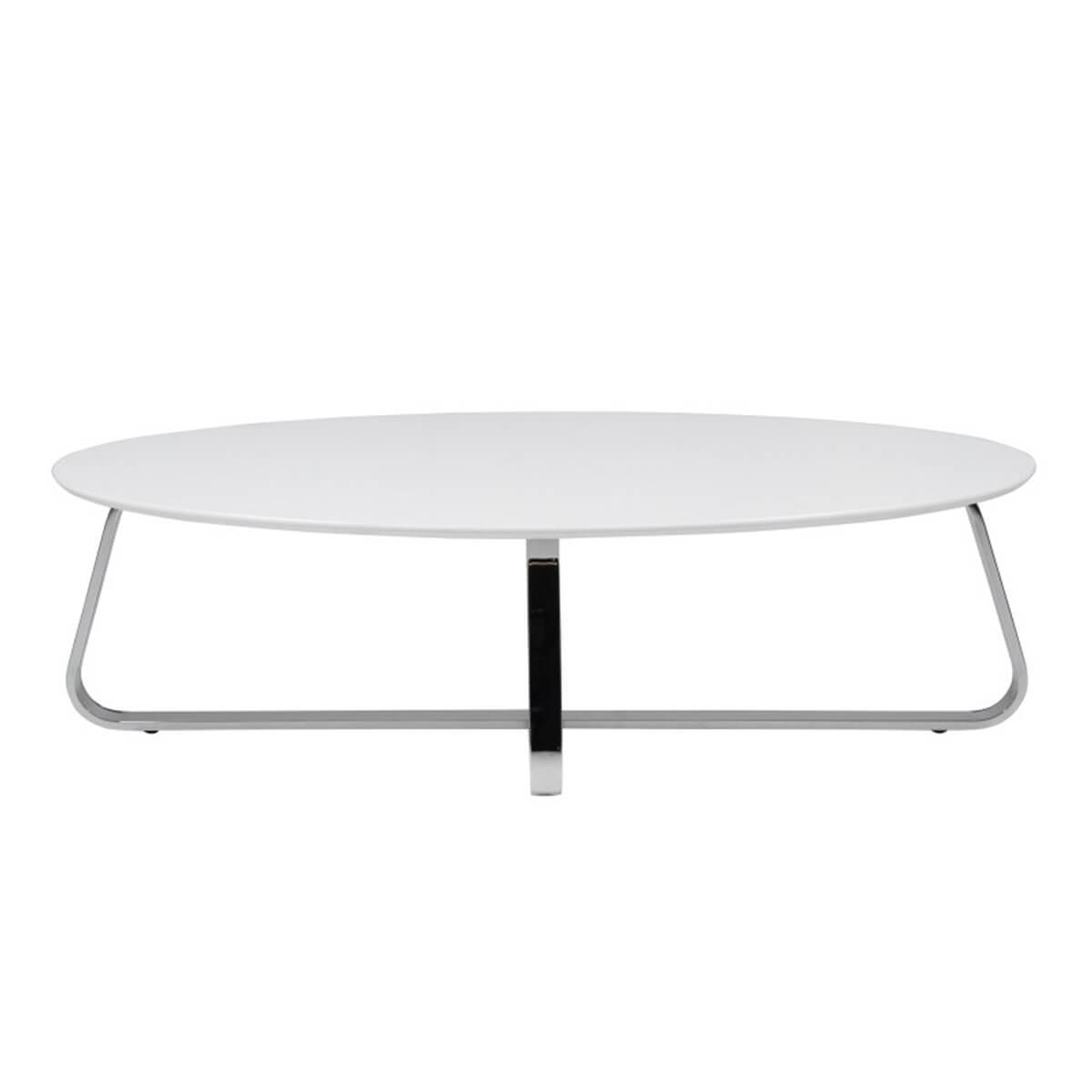 Kelley White Oval Coffee Table