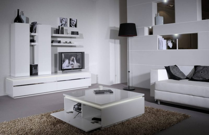Logan White Gloss Coffee Table with Storage 4