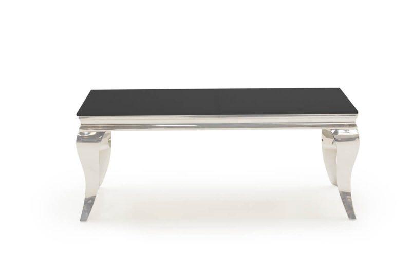 Louis Black Glass Coffee Table