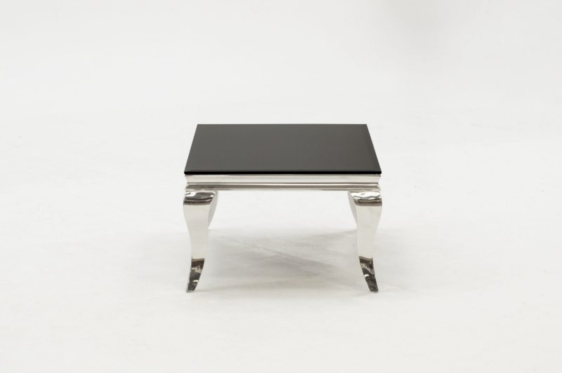 Louis Stainless Steel & Black Glass Coffee Table 3