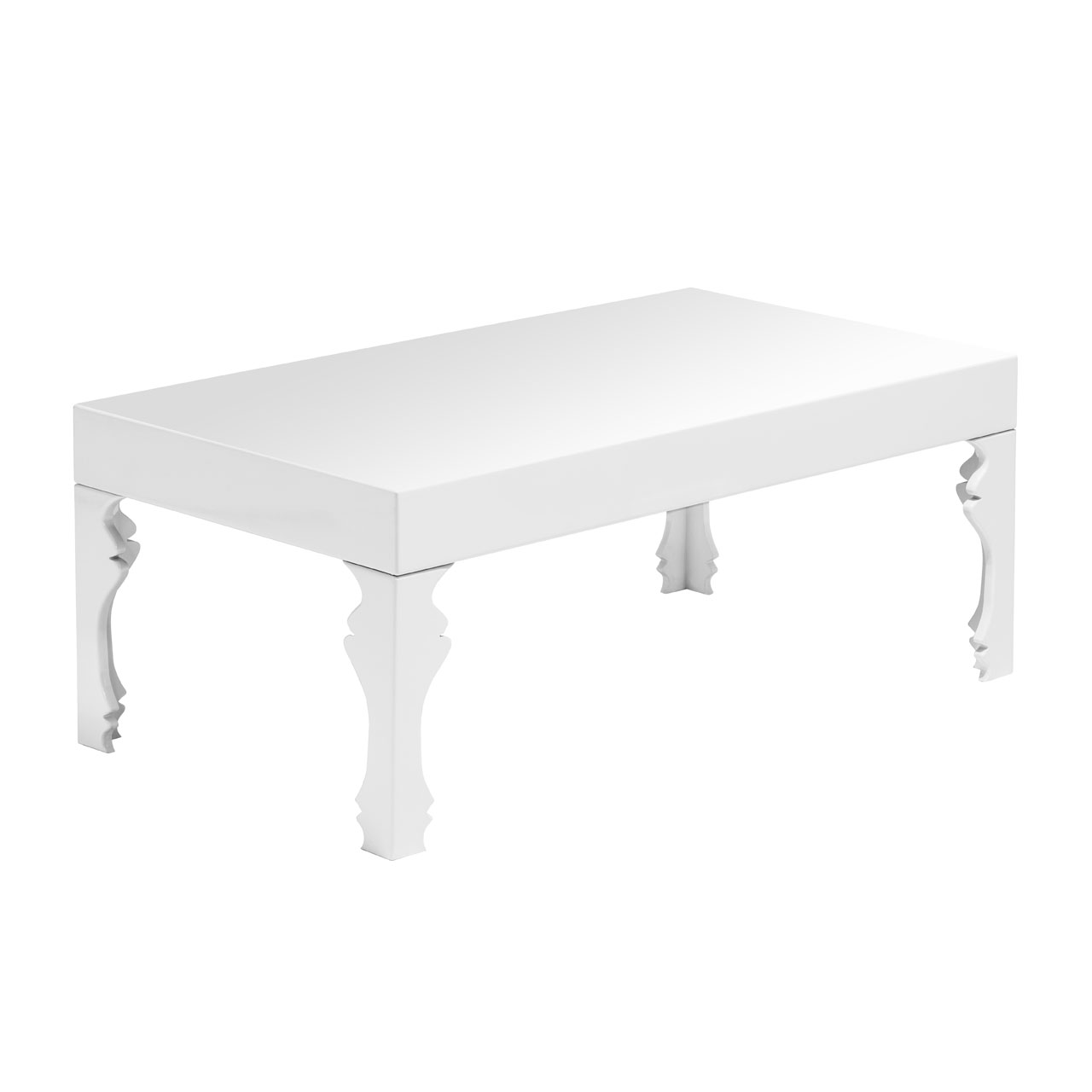 Luca White Coffee Table High Gloss