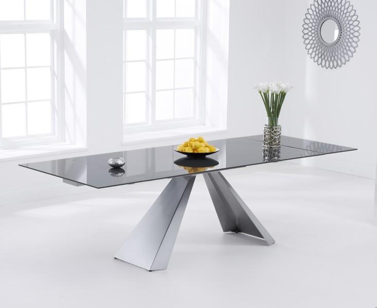 Lyon Extending Dark Grey Dining Table 3