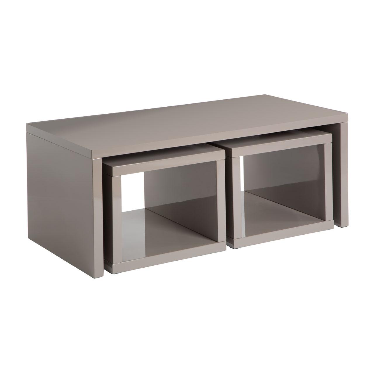 Madrid Dark Grey High Gloss Coffee Table