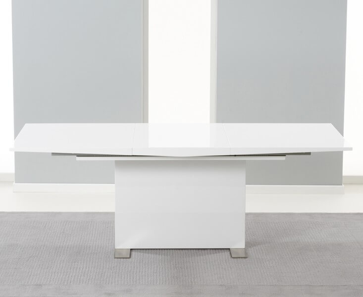 Marlia Extending White High GLoss Dining Table 2