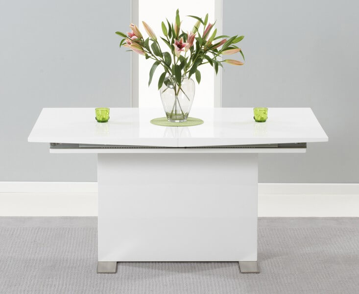 Marila Extending White High Gloss Dining Table 3